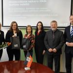 Jekabpils preses konferences dalibnieki